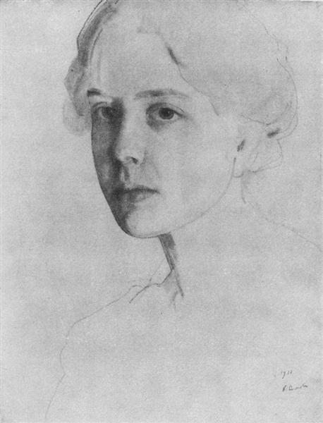 Portrait of S. Zvantseva, 1911 - Konstantin Somov