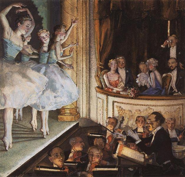 Russian ballet, 1930 - Konstantín Sómov