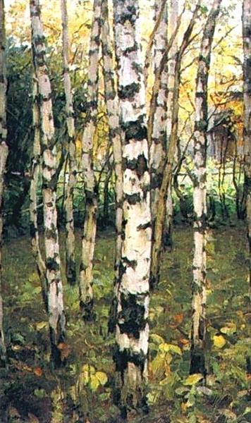 Birches. Petrovskoye, 1899 - Konstantin Yuon