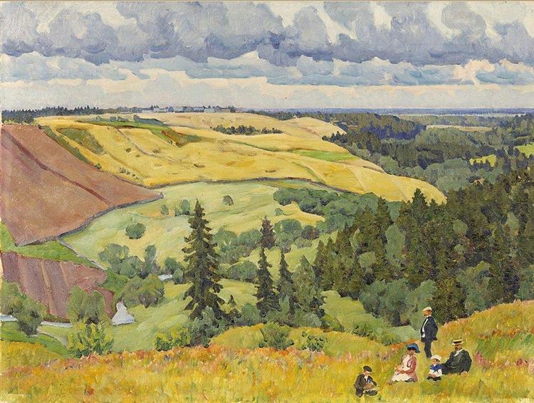 Landscape of Novgorod Governorate - Konstantin Yuon