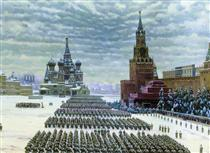 Military Parade in Red Square, 7th November 1941 - Konstantin Yuon