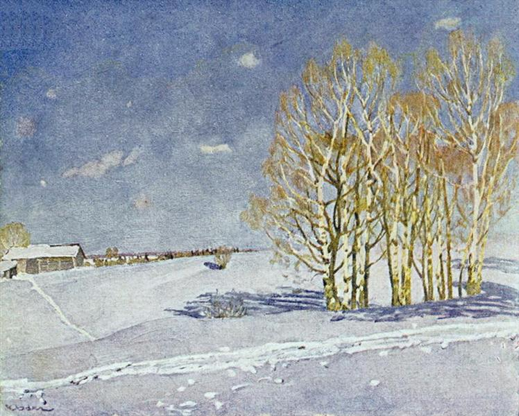 The Blue Winter Day, 1915 - Konstantin Yuon