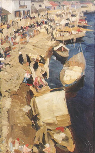 The Life on The Bank, 1904 - Konstantin Yuon