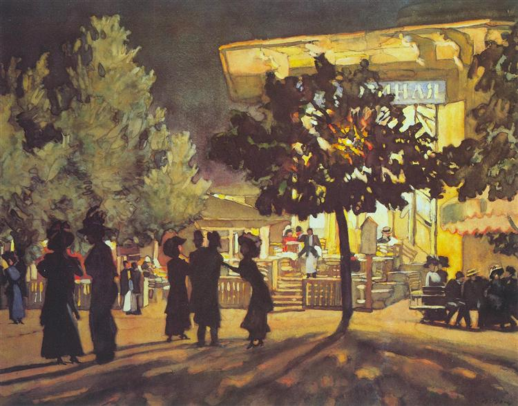 The Night. Tverskoy Boulevard, 1909 - Konstantin Yuon