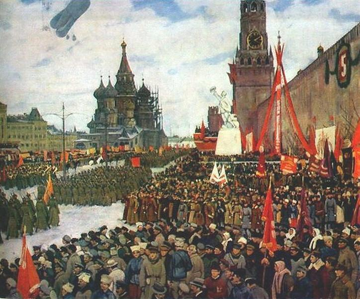 The Red Army parade, 1923 - Konstantin Yuon