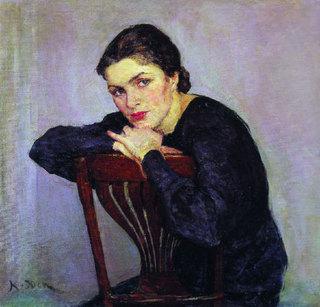 Women's Portrait - Konstantin Yuon