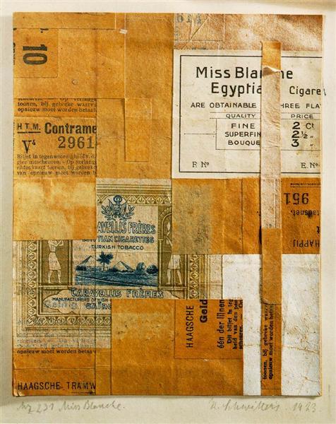 Mz 231. Miss Blanche, 1923 - Kurt Schwitters