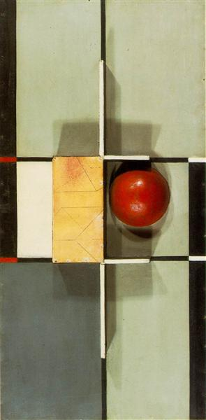 Relief with Cross and Square, 1924 - Kurt Schwitters