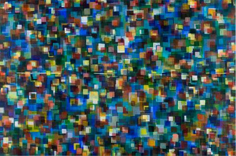 Neurocity (Aqua Blue), 2009 - Landon Mackenzie