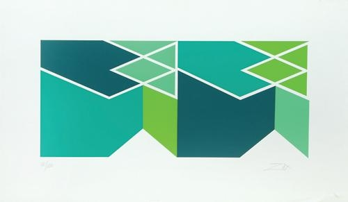 Green Composition, 1980 - Larry Zox