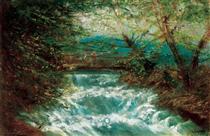 Burring Brook - Laszlo Mednyanszky