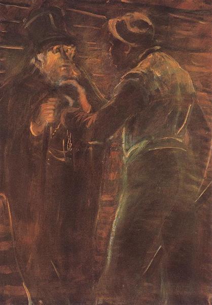 Mugging, 1913 - Laszlo Mednyanszky