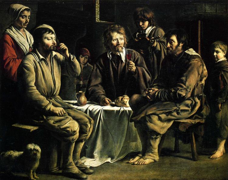 A refeição do camponês, 1642 - Le Nain (Irmãos Le Nain)
