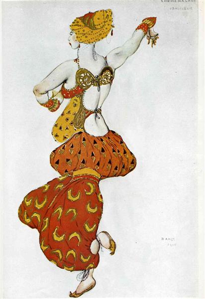 Scheherezade odalisque, 1910 - Leon Bakst