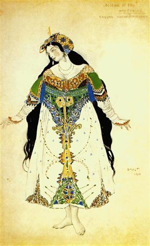 The Firebird, the tsarevna   - Leon Bakst