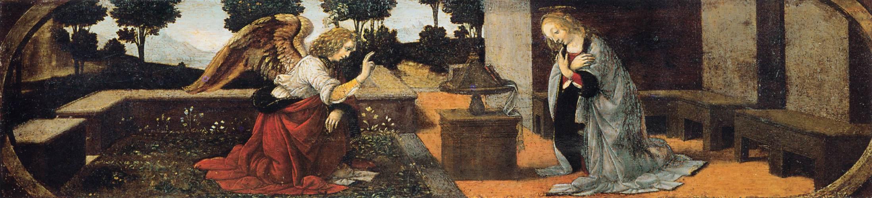 Annunciation, c.1480 - Leonardo da Vinci - WikiArt.org