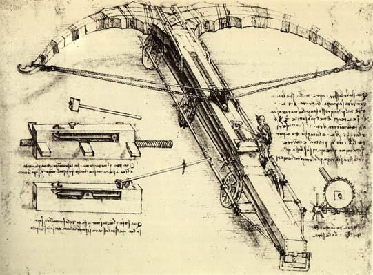 Design for a Giant Crossbow, 1482 - Leonardo da Vinci