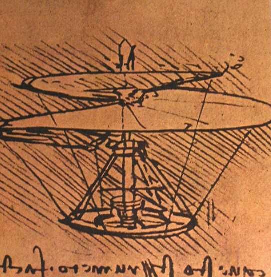 Design for a helicopter, 1500