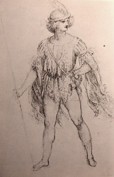 Drawing of a fancy dress costume, c.1500 - Leonardo da Vinci