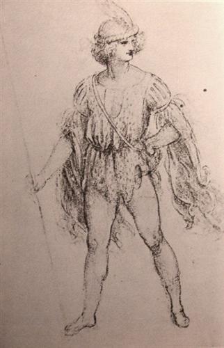 Drawing of a fancy dress costume - Leonardo da Vinci