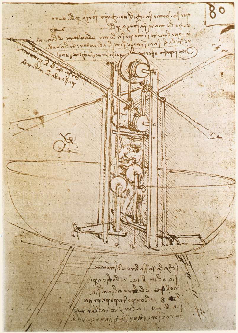 Flying machine, 1487