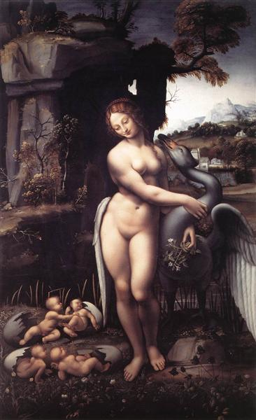 Leda, c.1510 - Леонардо да Винчи