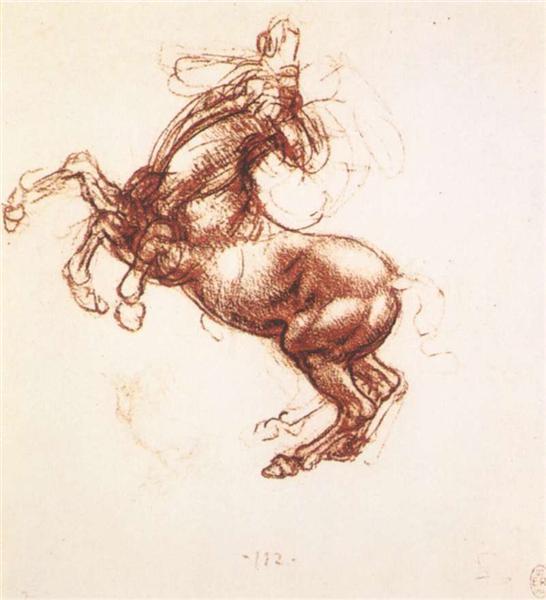 Rearing horse, c.1503 - Leonardo da Vinci
