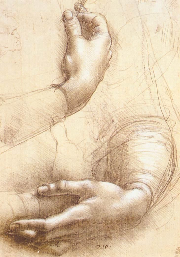 Study of hands, 1474
