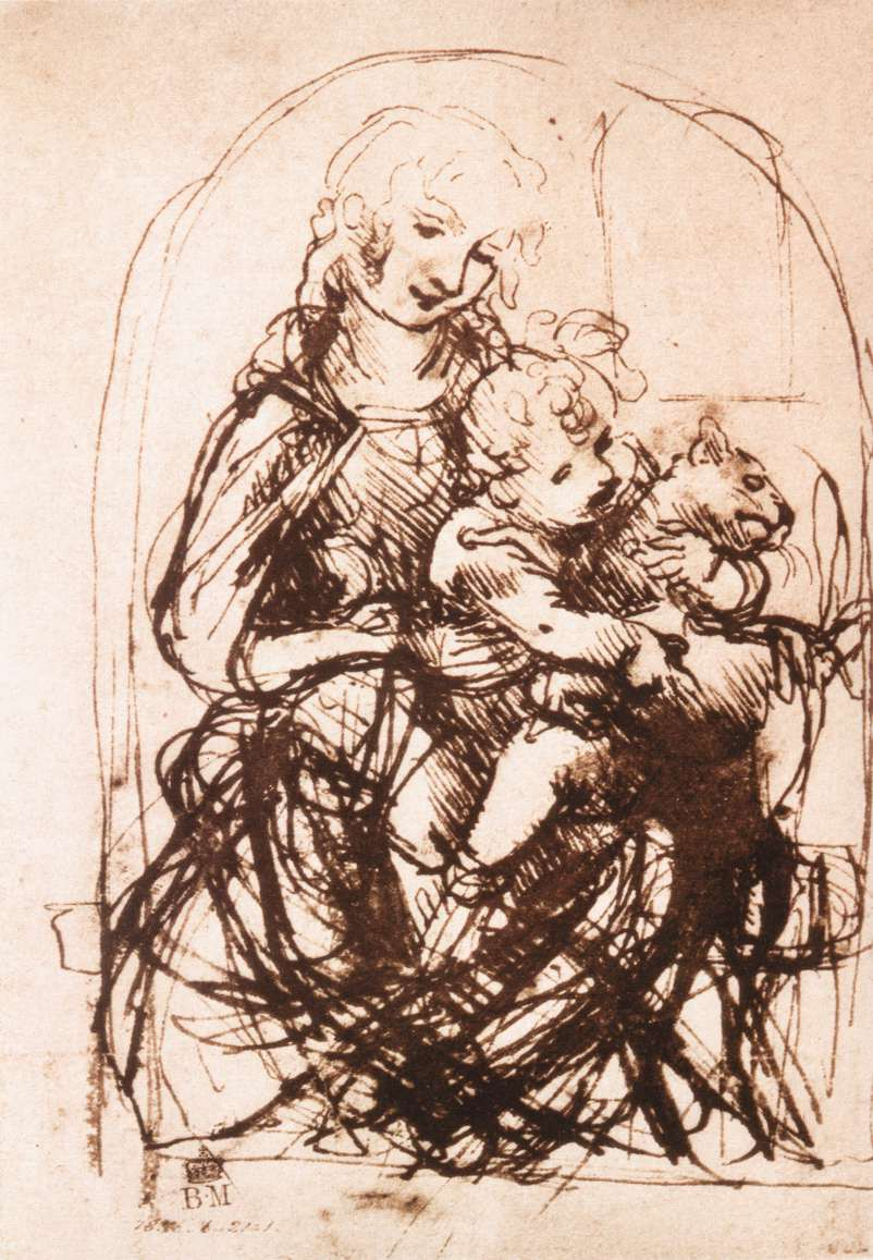 Study of the Madonna and Child with a Cat, 1478