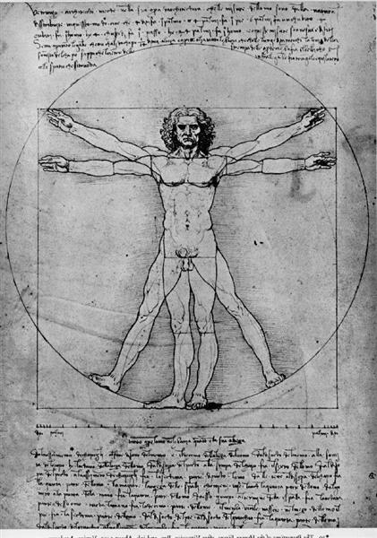 The proportions of the human figure (The Vitruvian Man), 1492 - Leonardo da Vinci