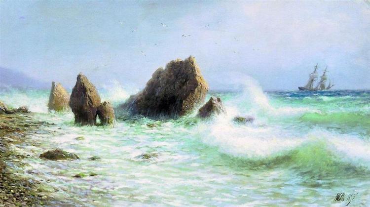 Along the coast Livadia, 1895 - Lev Lagorio