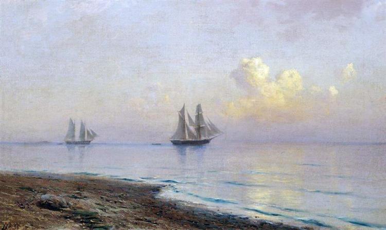 Seascape with sailboats, 1891 - Lev Lagorio