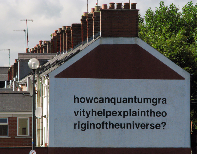 How can quantum gravity help explain the origin of the universe? (Belfast Mural), 2008 - Liam Gillick