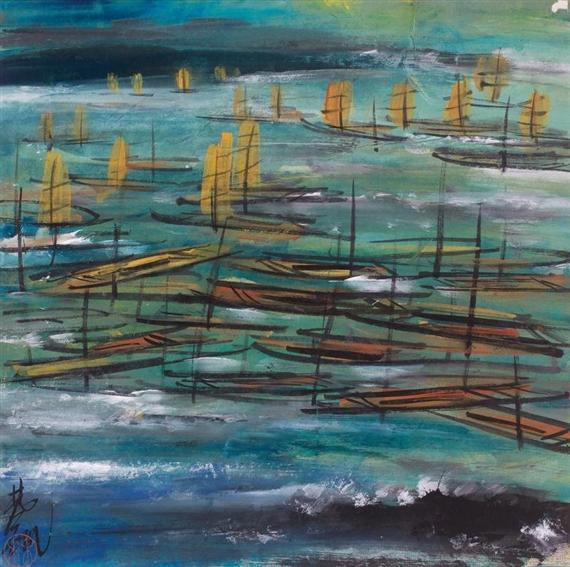 Boats - Lin Fengmian
