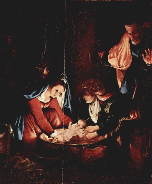 The Nativity, 1527 - Лоренцо Лотто