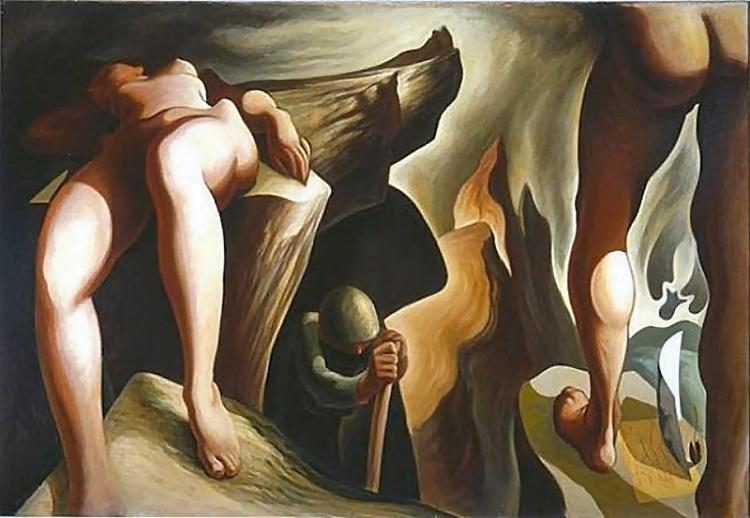 Post Surreal Configuration: Eternal Recurrence, 1940 - Lorser Feitelson