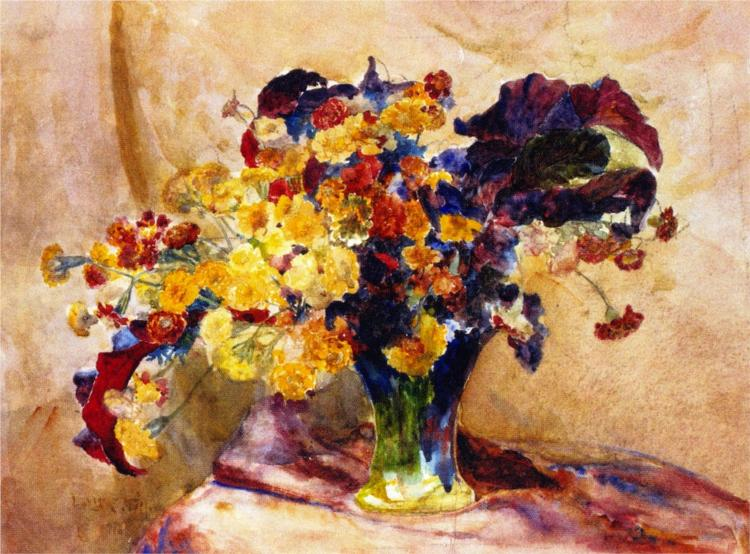 Untitled (also known as Flowers in a Vase), 1916 - Louis Comfort Tiffany
