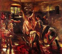 In the Slaughter House - Lovis Corinth