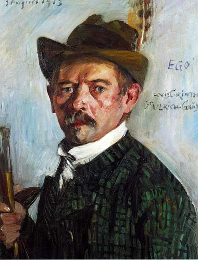 Self-Portrait in a Tyrolean Hat, 1913 - Ловис Коринт