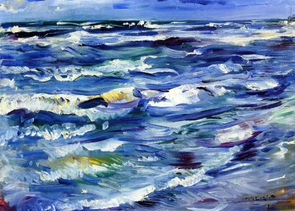 The Sea near La Spezia, 1914 - Ловис Коринт