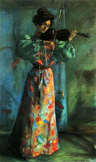 The Violinist, 1900 - Ловис Коринт