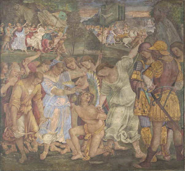 The Triumph of Chastity - Love Disarmed and Bound - Luca Signorelli