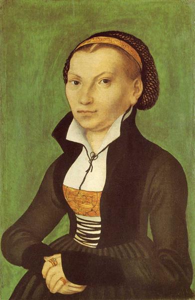 Katharina von Bora, future wife of Martin Luther, 1526 - Lucas Cranach der Ältere