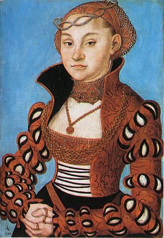 Portrait of a Saxon noblewoman, 1534 - Lucas Cranach der Ältere