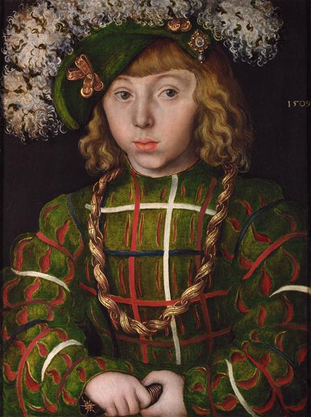 Portrait Of Johann Friederich I the Magnanimous, Elector of Saxony, 1509 - Lucas Cranach, o Velho