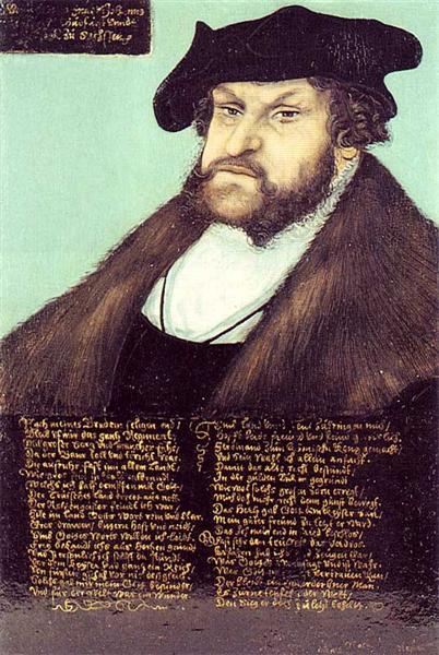 Portrait of Johann I the Steadfast, Elector of Saxony, c.1533 - Lucas Cranach der Ältere
