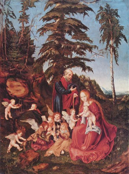 Rest on the Flight into Egypt, 1504 - Lucas Cranach der Ältere