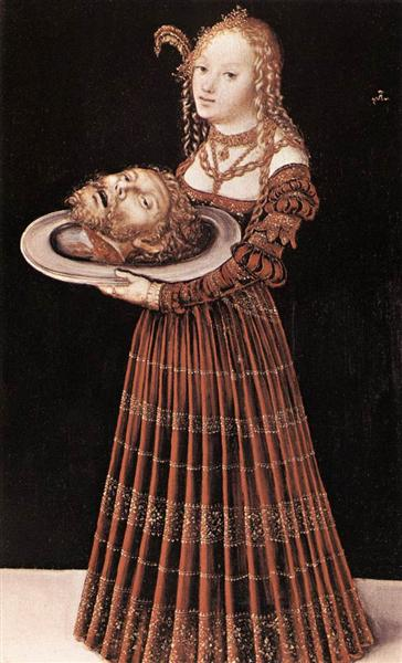 Salome with the Head of St. John the Baptist - Lucas Cranach der Ältere