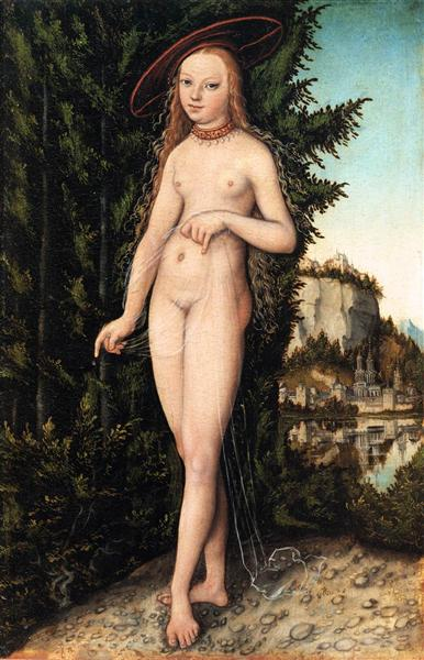 Venus standing in a landscape, 1529 - Lucas Cranach der Ältere