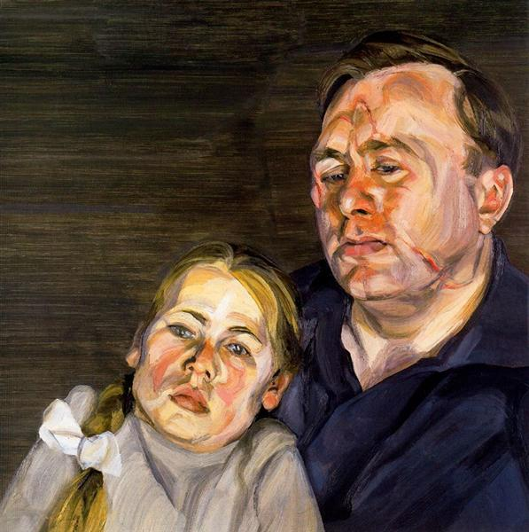 A Man and his Daughter - Lucian Freud
